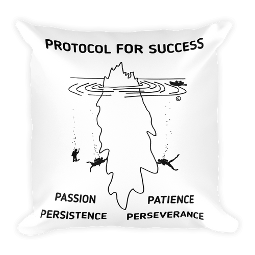 Square Pillow-PROTOCOL FOR SUCCESS