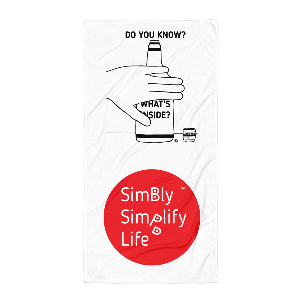 Beach Blanket- SIMBLY SIMPLIFY LIFE- DO YOU KNOW? WHAT'S INSIDE?