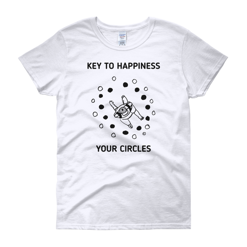 Women's short sleeve t-shirt-KEY TO HAPPINESS