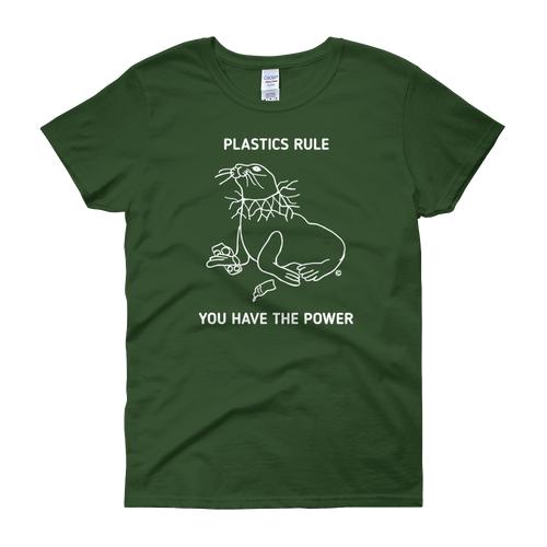 Women's short sleeve t-shirt- PLASTICS RULE