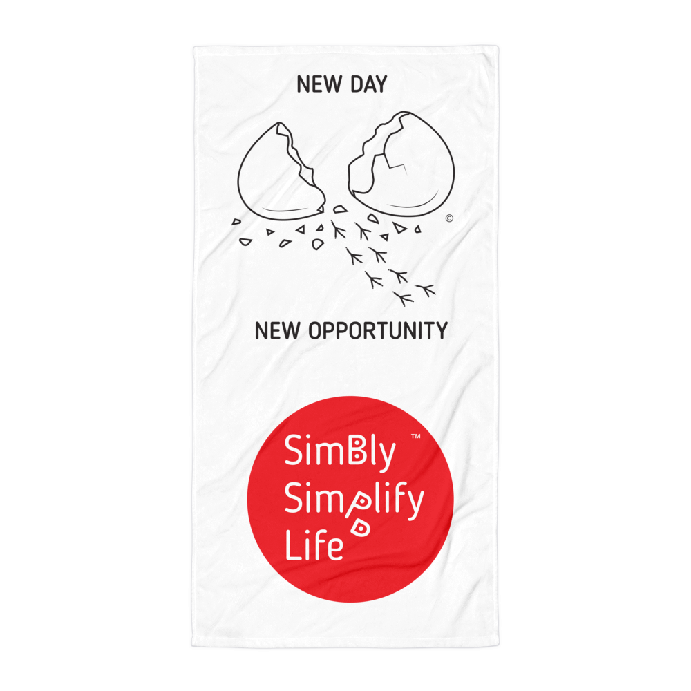 Beach Blanket-SIMBLY SIMPLIFY LIFE, NEW DAY- NEW OPPORTUNITY