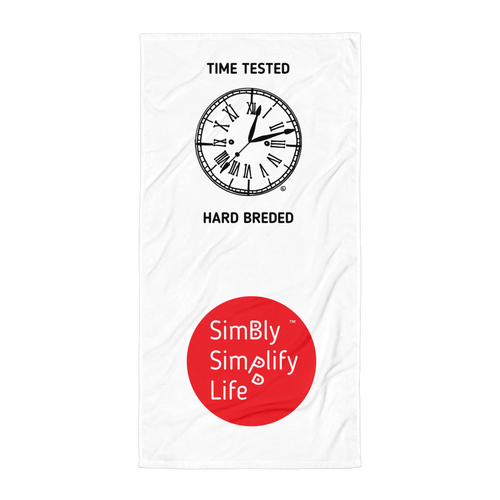 Beach Blanket- SIMBLY SIMPLIFY LIFE- TIME TESTED, HARD BREDED