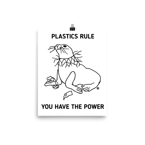 Photo paper poster-PLASTICS RULE. YOU HAVE THE POWER.