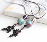 neckalces pendants  retro accessory jewelry ceramic beads
