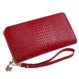 Leather Women Wallets Long Lady Clutch Wallet Purse Zipper