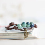 Colored Glaze Ceramic Bracelets Beads Folk Style
