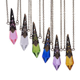 Princess Bronze Magical Prism Divination Pendulum Necklace