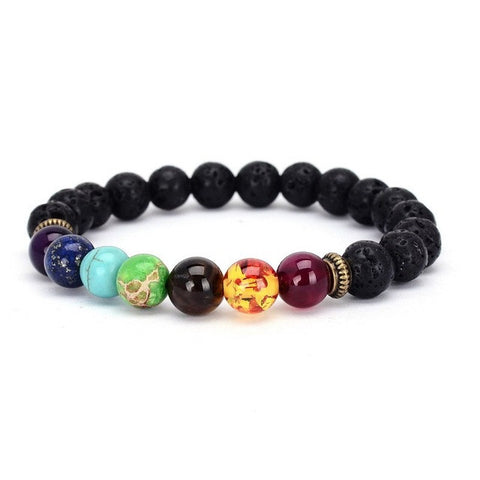 Bracelets Natural Stone Hologram  Mixed Healing Crystals Stone Chakra Pray