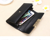 Vintage quality Leather Long Fashion Women Wallet