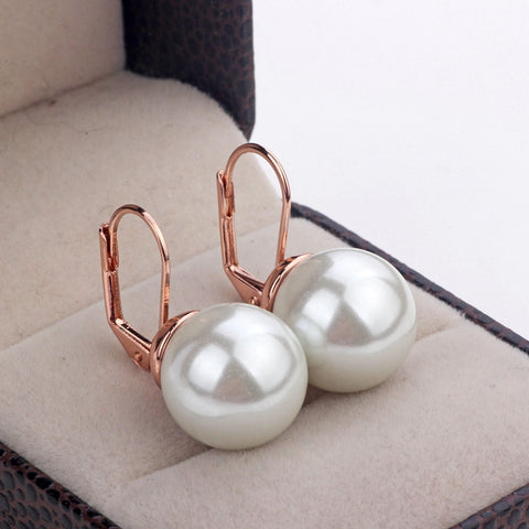 Fashion Crystal Earrings Jewelry Rose Gold Color