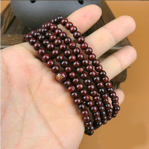 Chinese knotting  prayer seed beads bracelet  216 beads