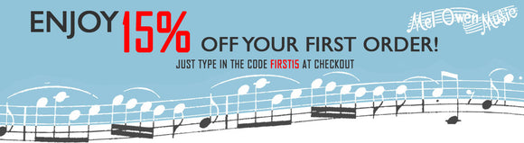 save 15 percent with code FIRST15
