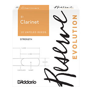 D'Addario Reserve Evolution B-Flat Clarinet Reeds (Box of 10)