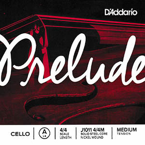 D'Addario Prelude Cello Strings - A