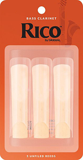 Rico Bass Clarinet Reeds (3 pack)