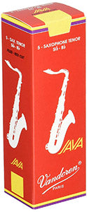 Vandoren Java Red Tenor Saxophone Reeds (Box of 5)