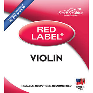 Super-Sensitive Red Label Violin Strings - A