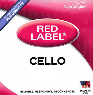 Super-Sensitive Red Label Cello Strings - A
