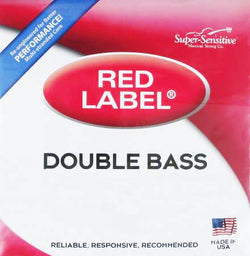 Super-Sensitive Red Label Bass Strings - Set