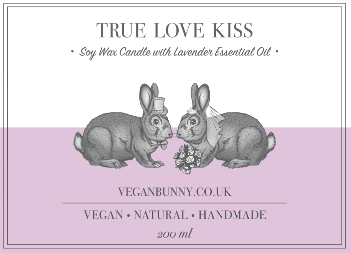 True Love Kiss Wedding Candle -  Vegan & Plastic free wedding favours