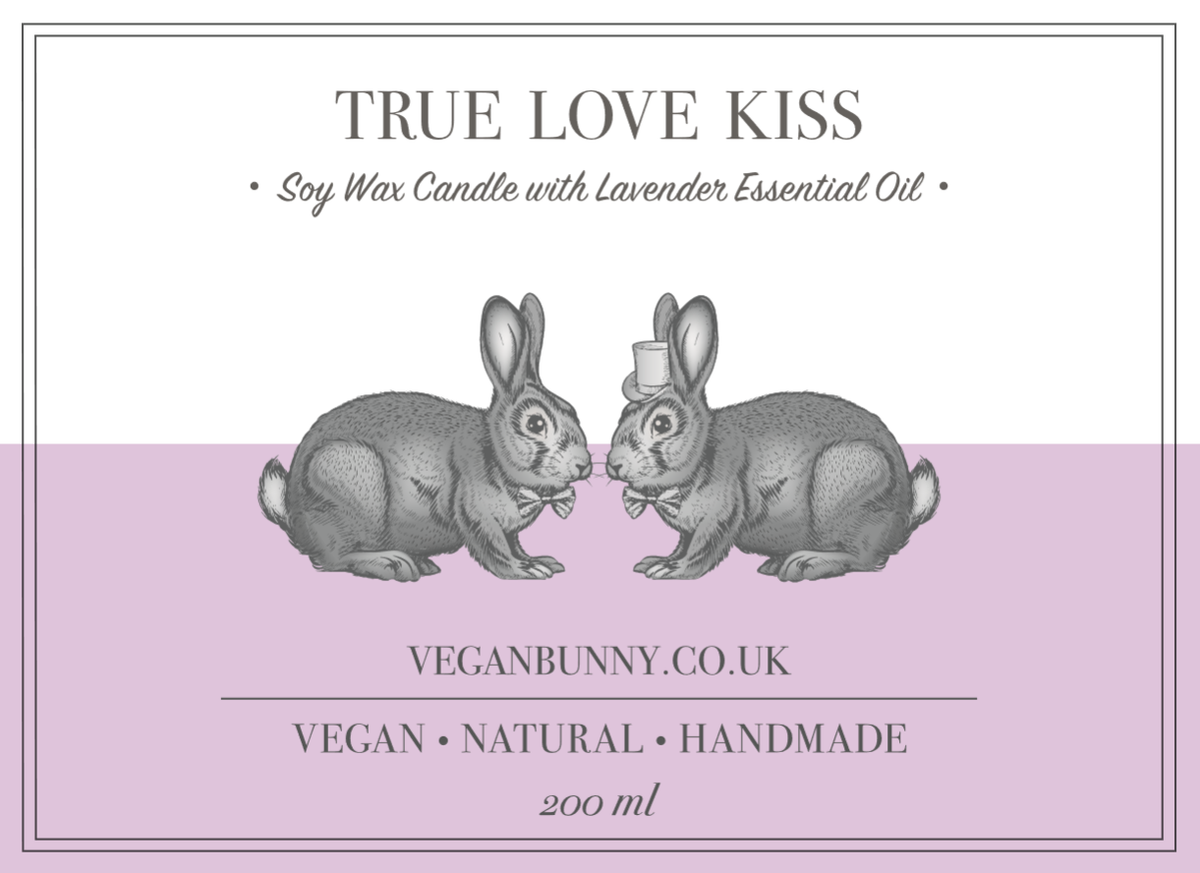 True Love Kiss gay Wedding Candle -  Vegan & Plastic free gay wedding favours