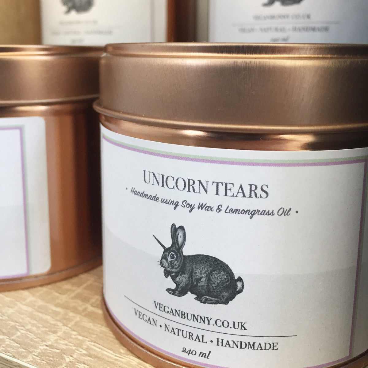 Unicorn Tears & Glitter Soy Candle