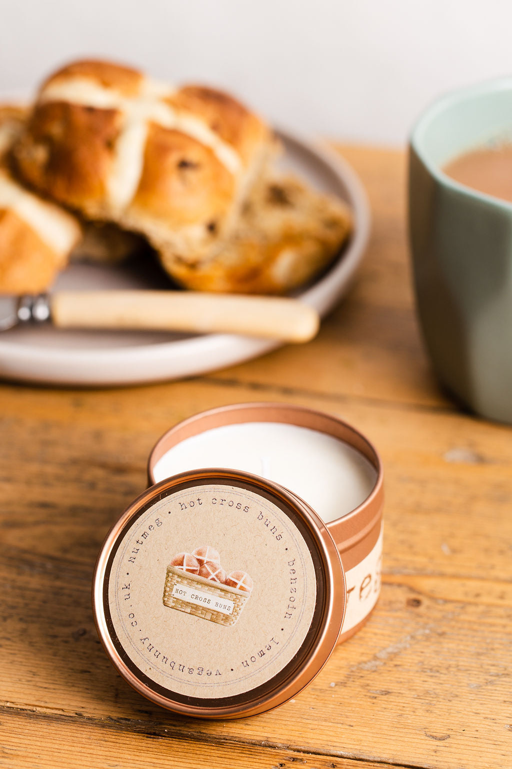 Hot cross Buns Candle