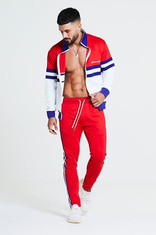 RETRO TRACKSUIT SET - RED/WHITE