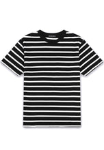 HEAVY COTTON STRIPE T-SHIRT - BLACK/WHITE