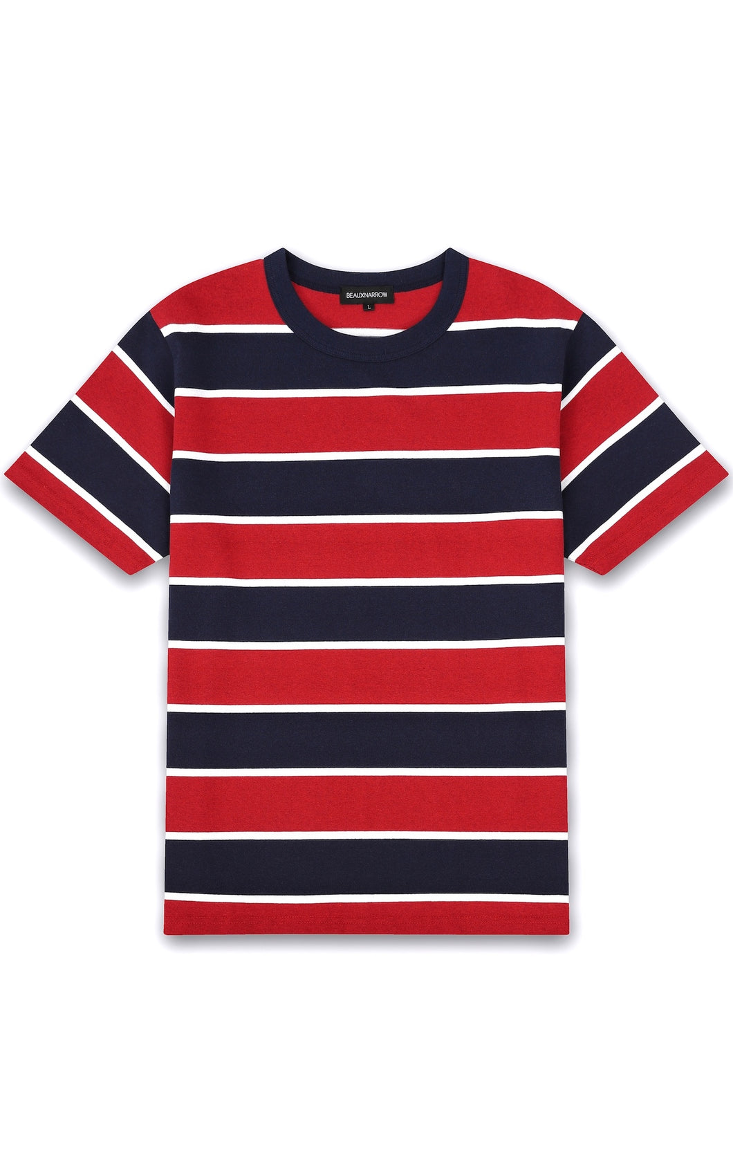 STRIPE SHORT-SLEEVE T-SHIRT - RED/NAVY