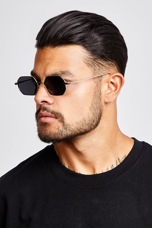 SUNGLASSES - HEXAGONAL - BLACK