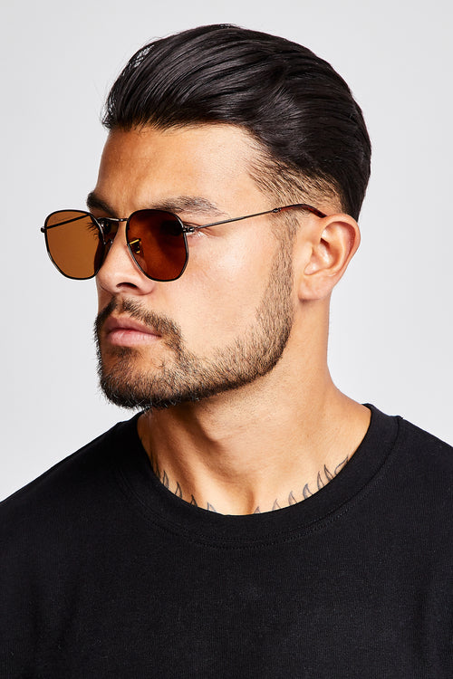 SUNGLASSES - ROUNDED V2 - BROWN