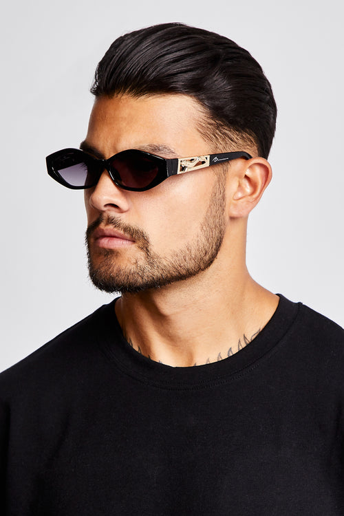 SUNGLASSES - CHUNKY VINTAGE - BLACK