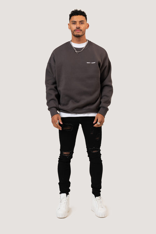 ESSENTIAL SWEATSHIRT - CHARCOAL