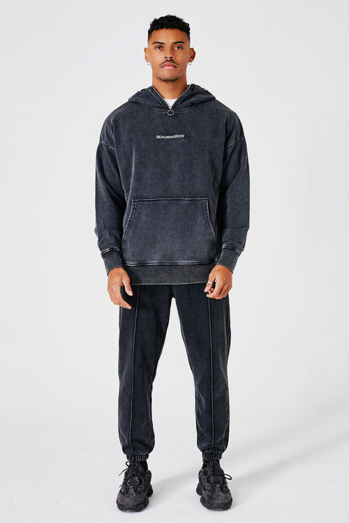 ESSENTIAL TECH TRACKSUIT - GREY/ACID WASH