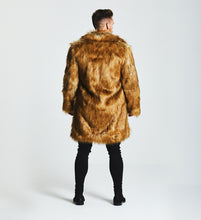FAUX FOX COAT - BROWN
