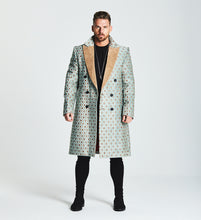 JACQUARD OVERCOAT - PALE GREEN