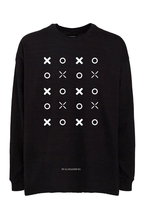 OVERSIZED XO SLUB T-SHIRT - BLACK
