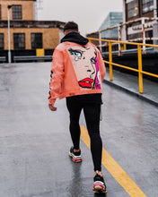 OVERSIZED RETRO DENIM JACKET - DUSTY PINK