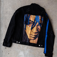 OVERSIZED XXX DENIM JACKET - BLACK/BLUE