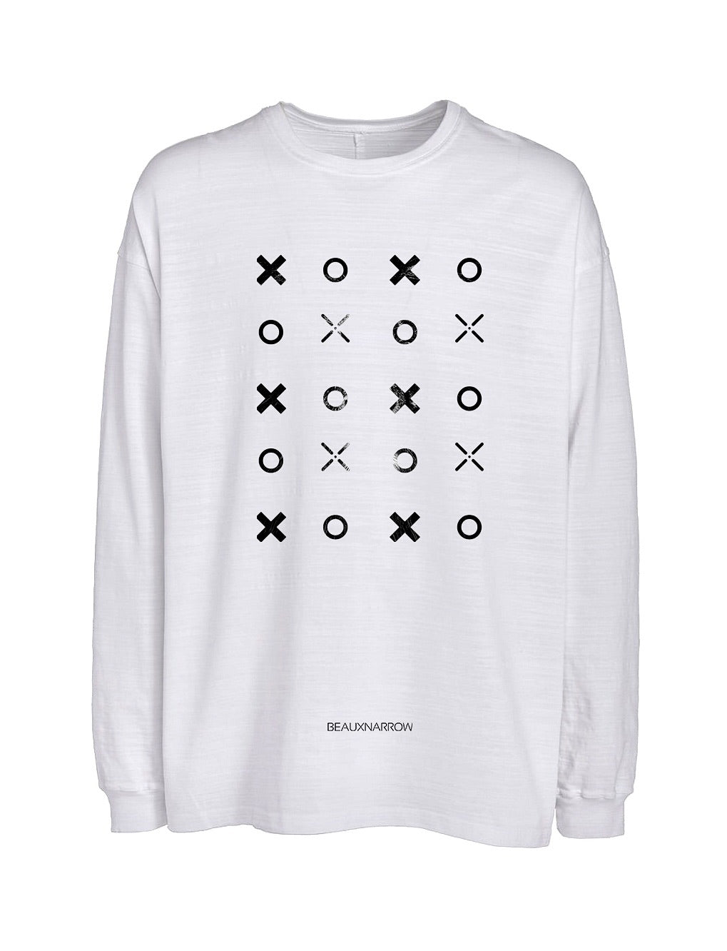 OVERSIZED XO SLUB T-SHIRT - WHITE