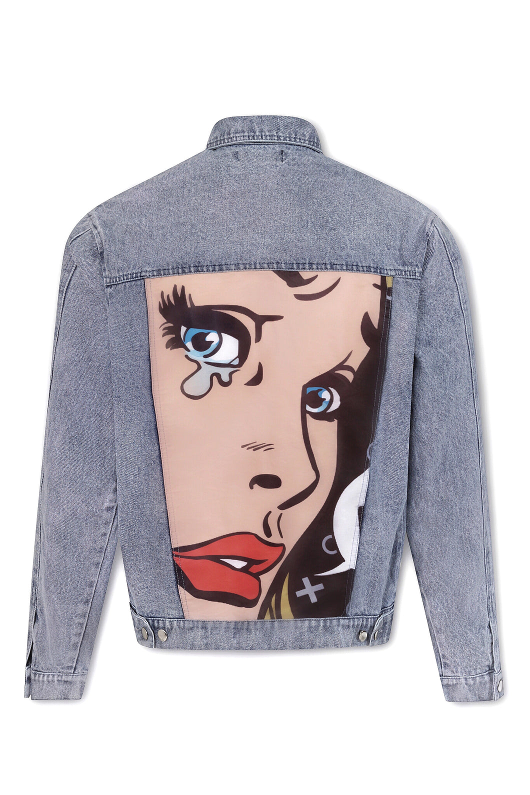 OVERSIZED RETRO DENIM JACKET - BLUE