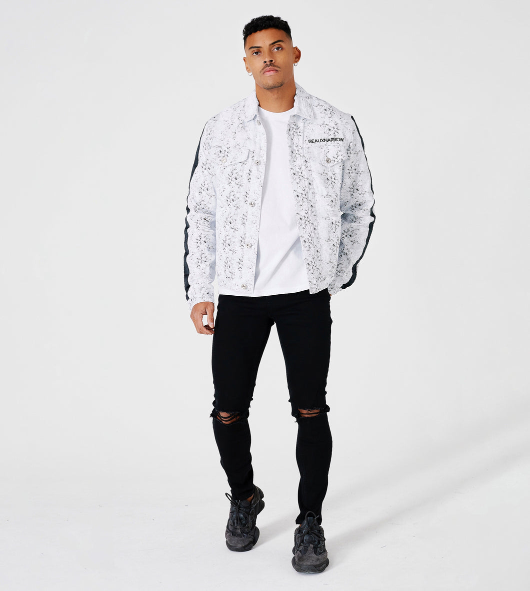OVERSIZED STREET DENIM JACKET - WHITE
