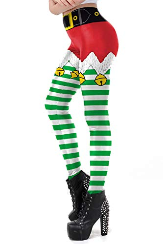 color cosplayer Women Christmas Leggings with 3D Design Printing Xmas Ultra Soft Womens Pants Various Styles