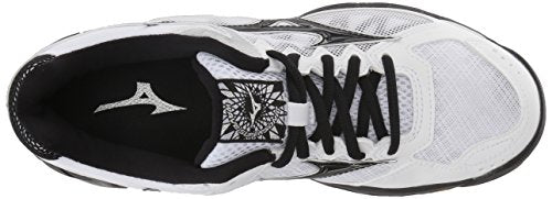 Mizuno Wave Supersonic Volleyball Shoes, White/Black Women's 8 B US