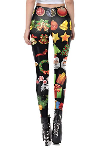 color cosplayer Women Christmas Leggings 3D Design Printing Xmas Ultra Soft Womens Pants & Halloween Leggings