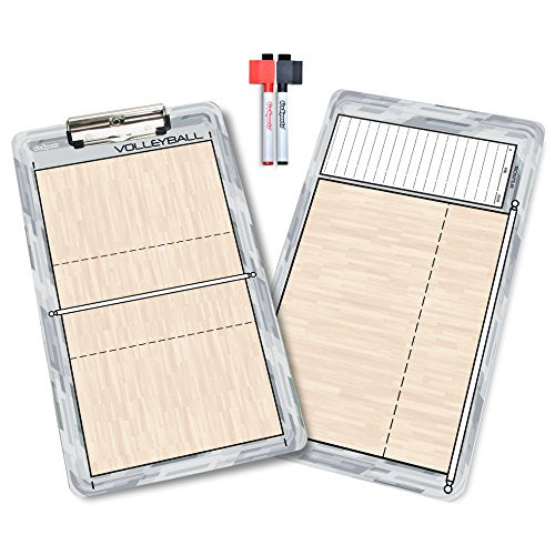 GoSports Volleyball Dry Erase Coaches Board with 2 Dry Erase Pens