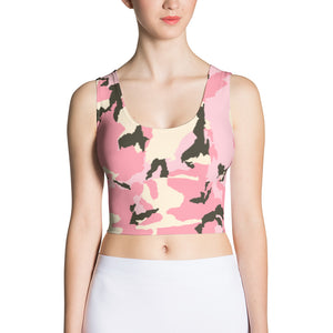 Camo Pink- Sublimation Cut & Sew Crop Top