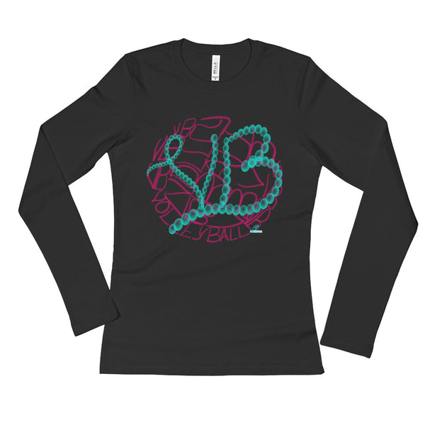 Volleyball- Ladies' Long Sleeve T-Shirt