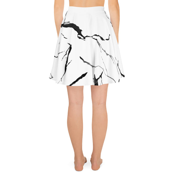 Marble Black/White Skater Skirt